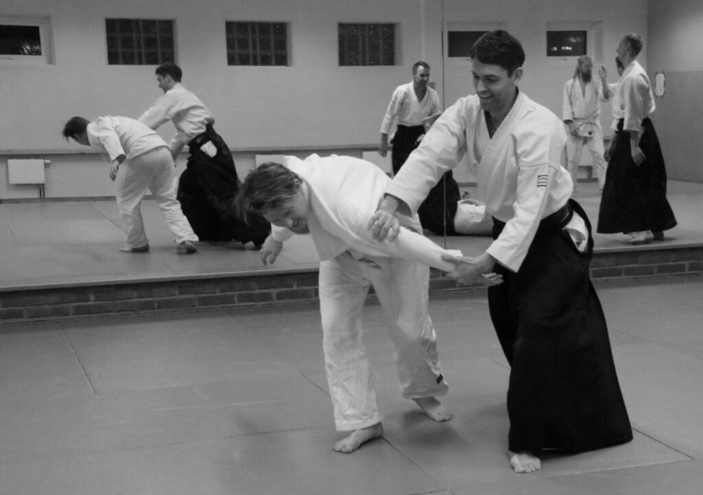 Aikido-träning i dojon